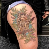 owl tattoo, owl, wildlife tattoo, wildlife, sexy, thigh tattoo, tattooed women, female artist, amanda, amanda stiehls, colby, phoebe aceto, phoebe, carol oddy, amy jiao, ithaca, cortland, auburn, syracuse, collegetown, college town, the best tattoos, tattoo ideas, unique tattoo ideas, unique tattoos, the best tattoo shop, the best tattoo shops near me, pretty tattoos, watercolor, watercolour, blackwork, black work, traditional, shoulder piece, back piece, arm tattoo, hand tattoo, portrait, illustrative, mandala, geometric, 3d, realism, traditional, piercing, piercings, tattooing, black dragon, black dragon tattoo, black dragon tattoo company, tara morgan, tattoos by tara, flowers, tattoo studio, body art, simple tattoos, minimalist tattoos, crystals, healing crystal tattoos, flower tattoo ideas, healing crystals, mystical tattoos, tattoo studios near me, microblading, josh payne, medusa tattoo, steihls, ink masters, gallery, art, custom tattoos, hand of fate, sacred art, ascend gallery, tattoo shops around ithaca, cortland tattoo shops, cortland tattoo studio, woman tattoo artist, botanical tattoo, floral tattoo, nature tattoo